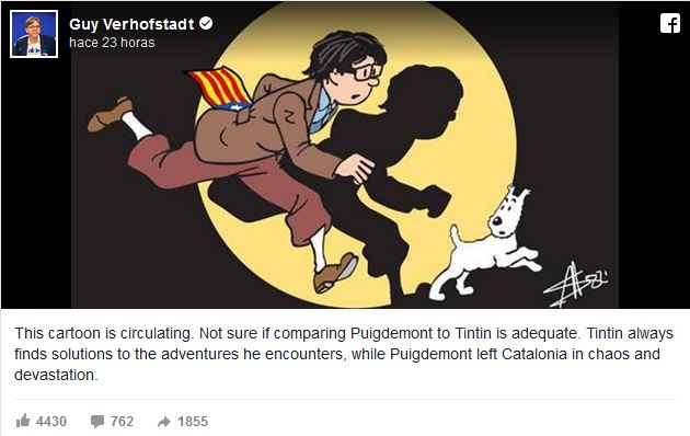 Guy Verhofstadt over Carles Puigdemont
