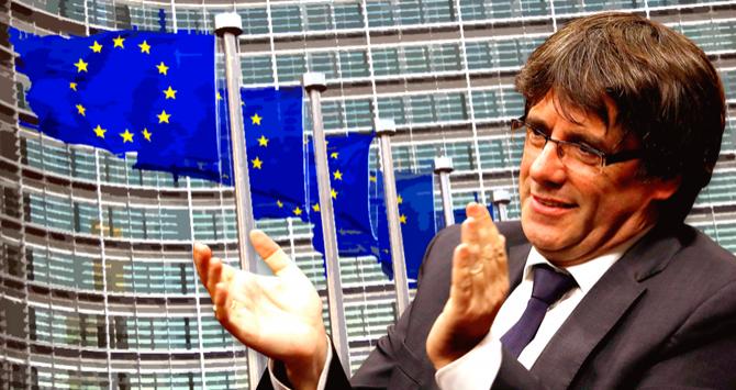 Kritiek op Europa door Puigdemont