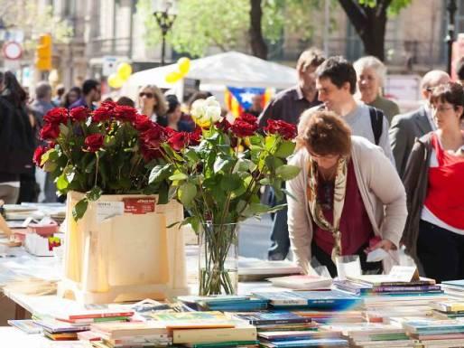 sant jordi boeken en rozen