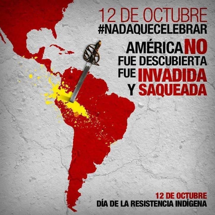 Colombiaanse anti 12 oktober affiche
