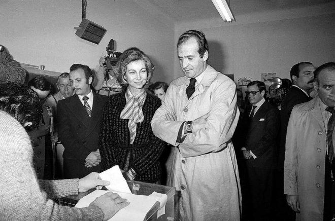 Juan Carlos en Sofia brengen stem uit